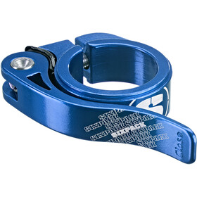 Sixpack Menace Collier de selle Ø31,8mm, blue